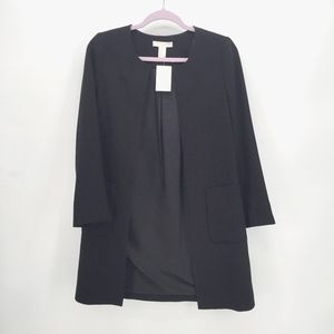 H&M Open Front Long Blazer Jacket